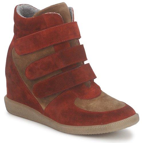 kengät Naiset Korkeavartiset tennarit Meline IMTEK BIS Brown / Red