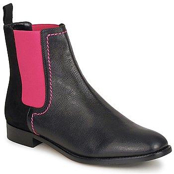 kengät Naiset Bootsit Moschino Cheap & CHIC CA2112 Black / Pink