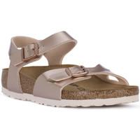 kengät Tytöt Sandaalit ja avokkaat Birkenstock RIO METALLIC LILAC Grigio