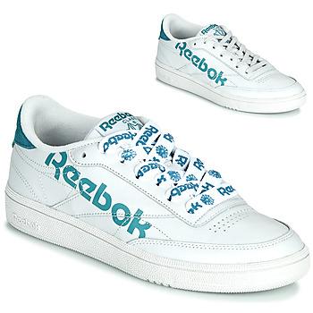 kengät Naiset Matalavartiset tennarit Reebok Classic CLUB C 86 White / Blue
