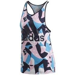 vaatteet Naiset Hihattomat paidat / Hihattomat t-paidat adidas Originals W Sid Tank Aop Mustat, Vaaleansiniset, Vaaleanpunaiset