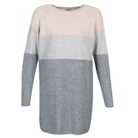 vaatteet Naiset Lyhyt mekko Only ONLLILLO Harmaa / Vaaleanpunainen