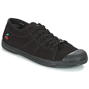 kengät Naiset Matalavartiset tennarit Le Temps des Cerises BASIC 02 MONO Black