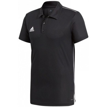 vaatteet Miehet Lyhythihainen poolopaita adidas Originals Core 18 Polo Mustat