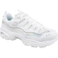 kengät Naiset Matalavartiset tennarit Skechers Dlites Valkoiset