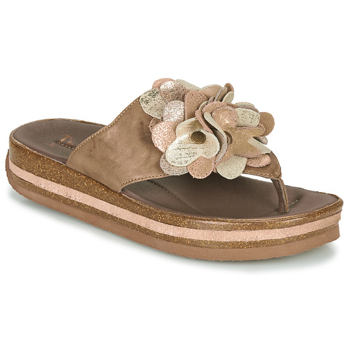 kengät Naiset Varvassandaalit Think ZEGA Beige