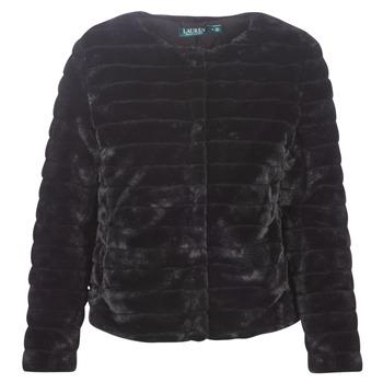 vaatteet Naiset Paksu takki Lauren Ralph Lauren FAUX CHUBBY Black