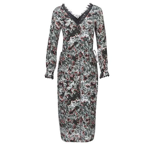 vaatteet Naiset Pitkä mekko Heimstone LAKE Black / Monivärinen