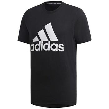 vaatteet Miehet Lyhythihainen t-paita adidas Originals MH Bos Tee Mustat