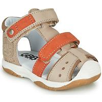 kengät Pojat Sandaalit ja avokkaat GBB EUZAK Beige / Oranssi