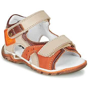 kengät Pojat Sandaalit ja avokkaat GBB EROPE Beige / Oranssi