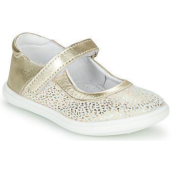 kengät Tytöt Balleriinat GBB PLACIDA Valkoinen / Kulta