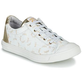 kengät Tytöt Matalavartiset tennarit GBB MATIA White / Kulta