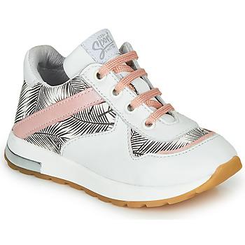 kengät Tytöt Matalavartiset tennarit GBB LELIA White / Black / Pink