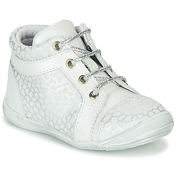 kengät Tytöt Korkeavartiset tennarit GBB OMANE Grey / White
