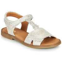 kengät Tytöt Sandaalit ja avokkaat GBB FARENA Valkoinen / Kulta