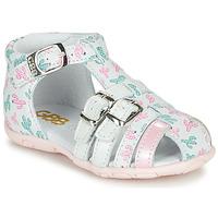kengät Tytöt Sandaalit ja avokkaat GBB RIVIERA White / Pink