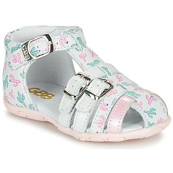 kengät Tytöt Sandaalit ja avokkaat GBB RIVIERA Valkoinen / Vaaleanpunainen