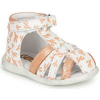kengät Tytöt Sandaalit ja avokkaat GBB AGRIPINE White / Orange