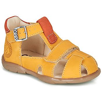 kengät Pojat Sandaalit ja avokkaat GBB SEROLO Keltainen / Oranssi