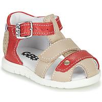 kengät Pojat Sandaalit ja avokkaat GBB BASILA Punainen / Beige