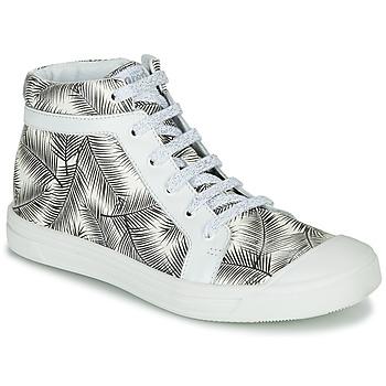 kengät Tytöt Korkeavartiset tennarit GBB NAVETTE Musta / Valkoinen