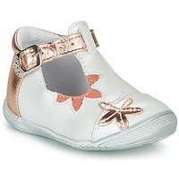 kengät Tytöt Balleriinat GBB ANAXI Valkoinen / Vaaleanpunainen / Kulta