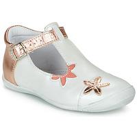 kengät Tytöt Balleriinat GBB ANAXI White / Pink / Kulta