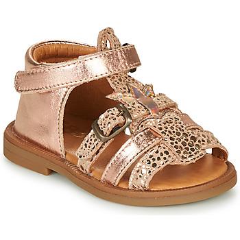 kengät Tytöt Sandaalit ja avokkaat GBB CARETTE Vaaleanpunainen / Kulta