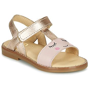 kengät Tytöt Sandaalit ja avokkaat GBB NAZETTE Vaaleanpunainen