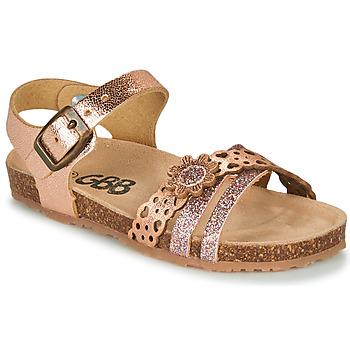 kengät Tytöt Sandaalit ja avokkaat GBB PANORA Vaaleanpunainen / Kulta