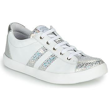 kengät Tytöt Matalavartiset tennarit GBB MAPLUE White / Hopea