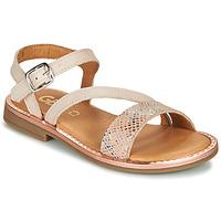 kengät Tytöt Sandaalit ja avokkaat GBB FANA Beige / Pink