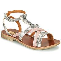 kengät Tytöt Sandaalit ja avokkaat GBB JULIA White / Pink