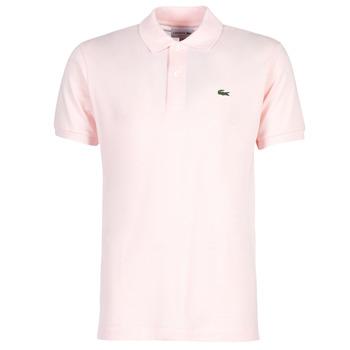 vaatteet Miehet Lyhythihainen poolopaita Lacoste POLO L12 12 REGULAR Pink