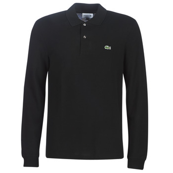 vaatteet Miehet Pitkähihainen poolopaita Lacoste L1312 Black