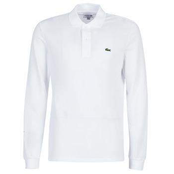 vaatteet Miehet Pitkähihainen poolopaita Lacoste L1312 White