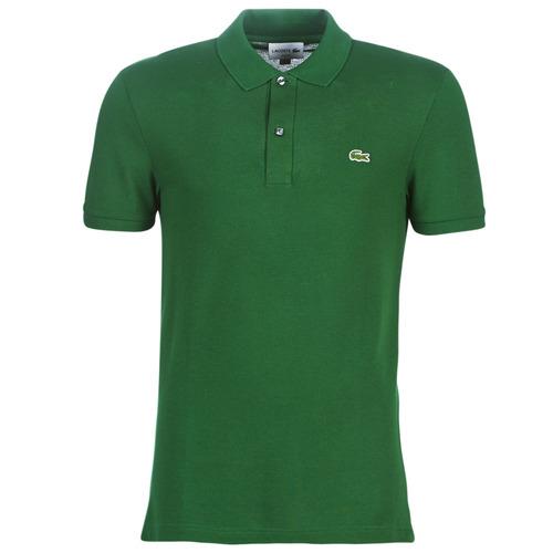 vaatteet Miehet Lyhythihainen poolopaita Lacoste PH4012 SLIM Green
