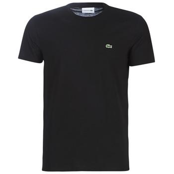 vaatteet Miehet Lyhythihainen t-paita Lacoste TH6709 Black