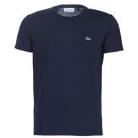 vaatteet Miehet Lyhythihainen t-paita Lacoste TH6709 Laivastonsininen