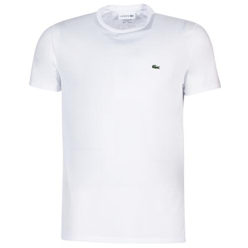 vaatteet Miehet Lyhythihainen t-paita Lacoste TH6709 White