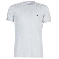 vaatteet Miehet Lyhythihainen t-paita Lacoste TH6709 Harmaa