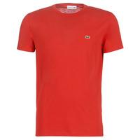 vaatteet Miehet Lyhythihainen t-paita Lacoste TH6709 Punainen