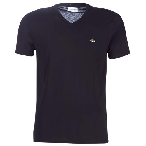 vaatteet Miehet Lyhythihainen t-paita Lacoste TH6710 Musta