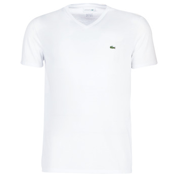 vaatteet Miehet Lyhythihainen t-paita Lacoste TH6710 White