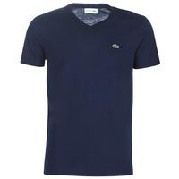 vaatteet Miehet Lyhythihainen t-paita Lacoste TH6710 Laivastonsininen
