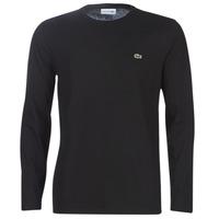 vaatteet Miehet T-paidat pitkillä hihoilla Lacoste TH6712 Black