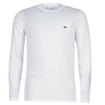 vaatteet Miehet T-paidat pitkillä hihoilla Lacoste TH6712 White