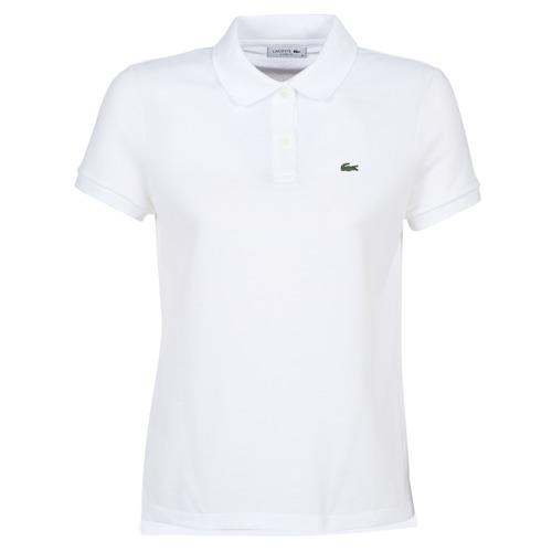 vaatteet Naiset Lyhythihainen poolopaita Lacoste PF7839 White