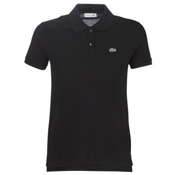 vaatteet Naiset Lyhythihainen poolopaita Lacoste PF7839 Black